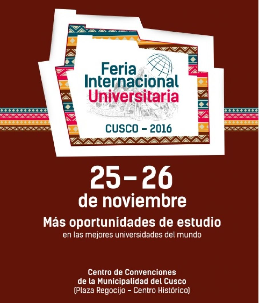 """FERIA INTERNACIONAL UNIVERSITARIA CUSCO 2016"""