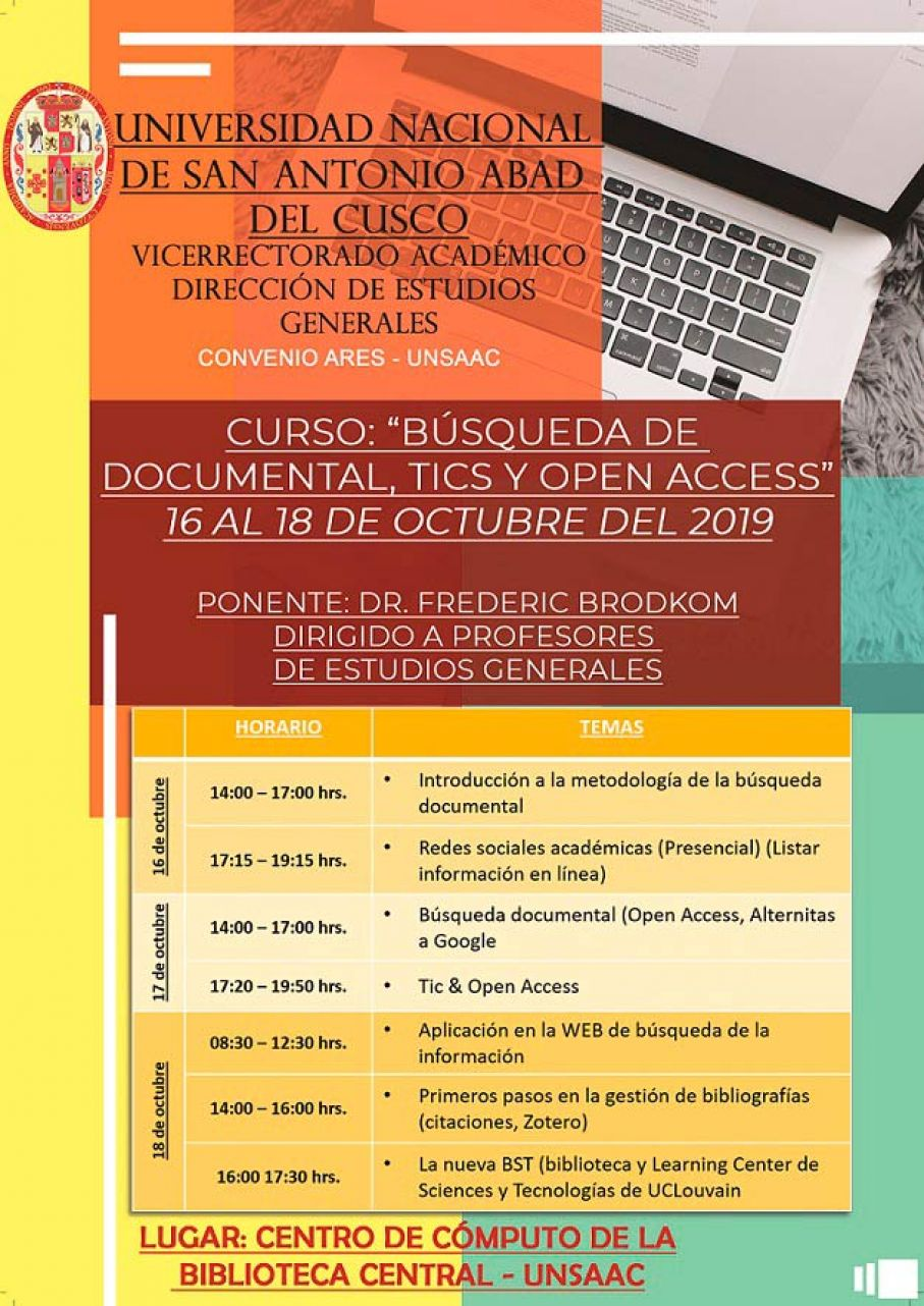 CURSO: BÚSQUEDA DE DOCUMENTAL, TICS Y OPEN ACCESS